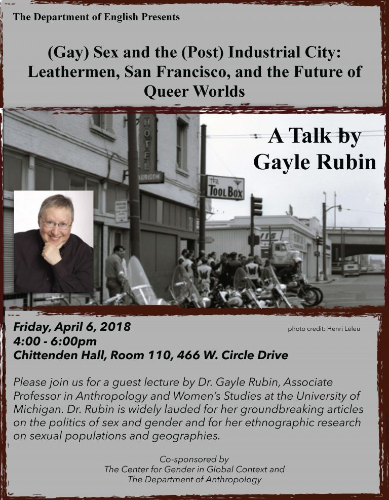 Rubin Talk Flyer (FGS, April 2018)