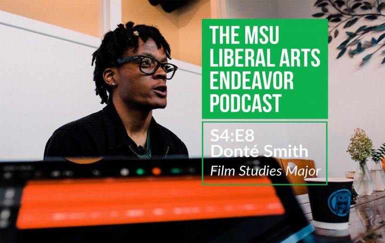 LAE Podcast Hosts Film Studies Graduate Donté Smith