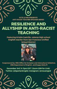 NCTE @ MSU Anti-Racist Teacher Speaker Series