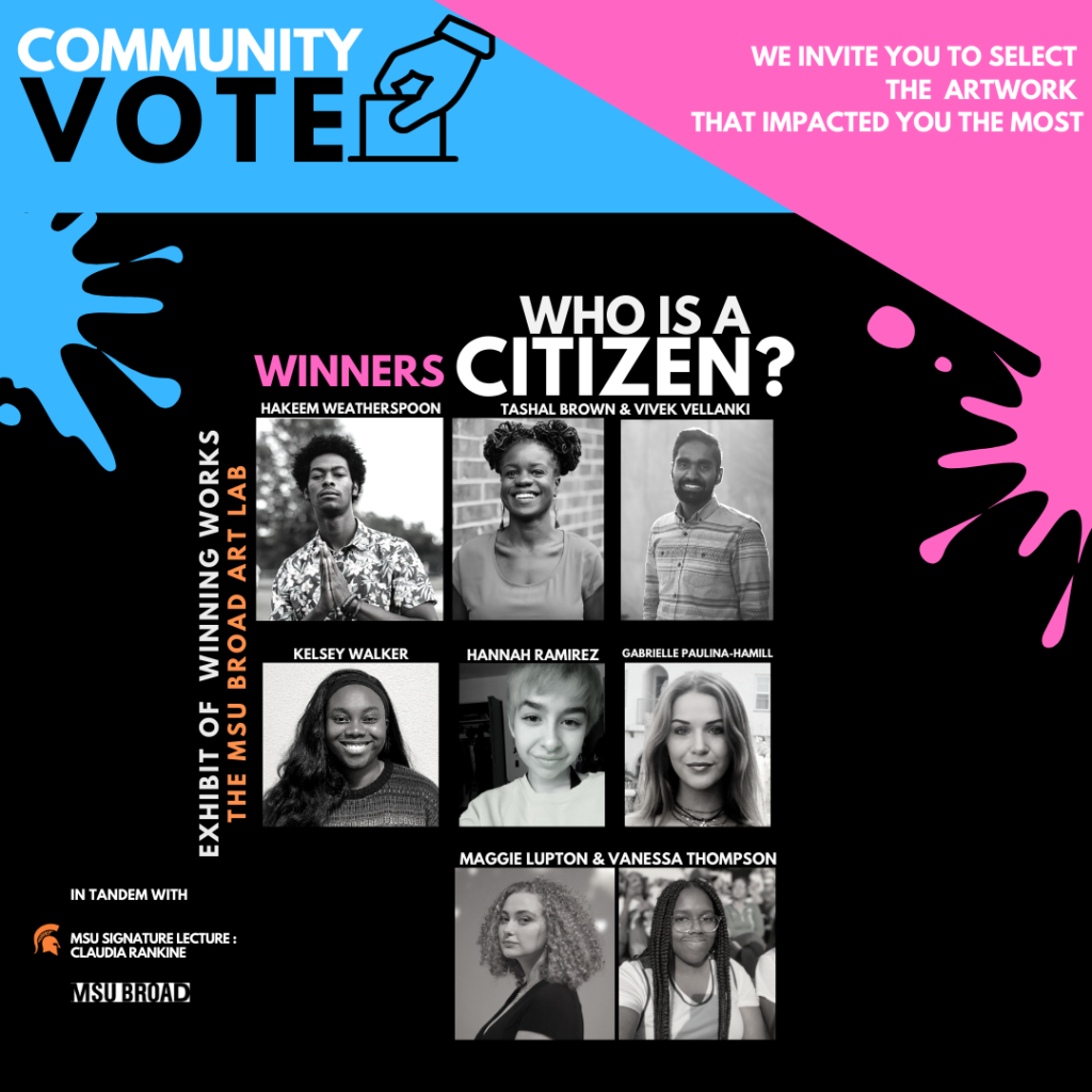 poster graphic of who is a citizen winners