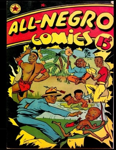 a comic book cover with a bunch of people on it called 'All-Negro comics'