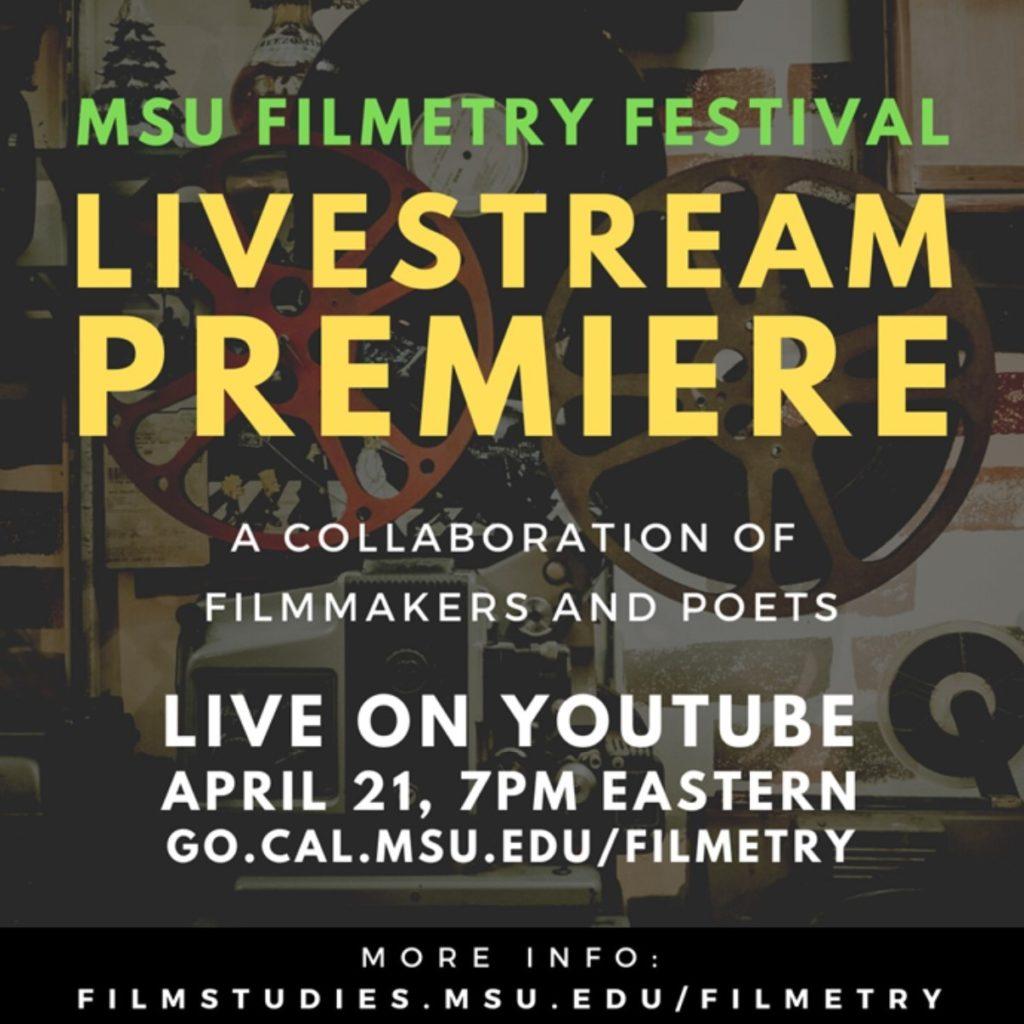 flyer that says 'MSU Filmetry Festival